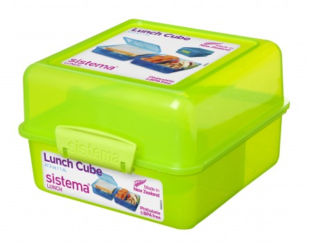 Sistema 1 4l Lunch Cube With Compartments Name Your Dummy